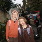 Tor and Margaux at school