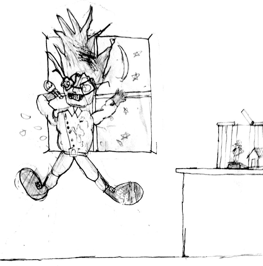 comic character jumping