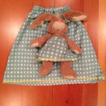 skirt for girl and stuffed bunny