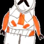 Orange clone trooper by Grail