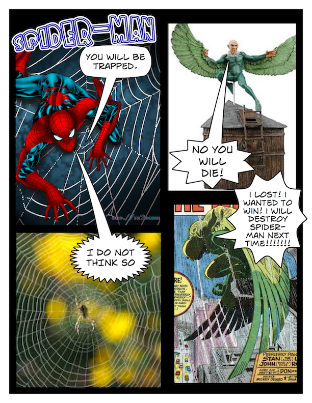 spiderman comic by Grail