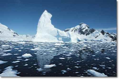icebergs melting